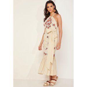 Free People Chrysanthemum Embroidered Midi Dress 4
